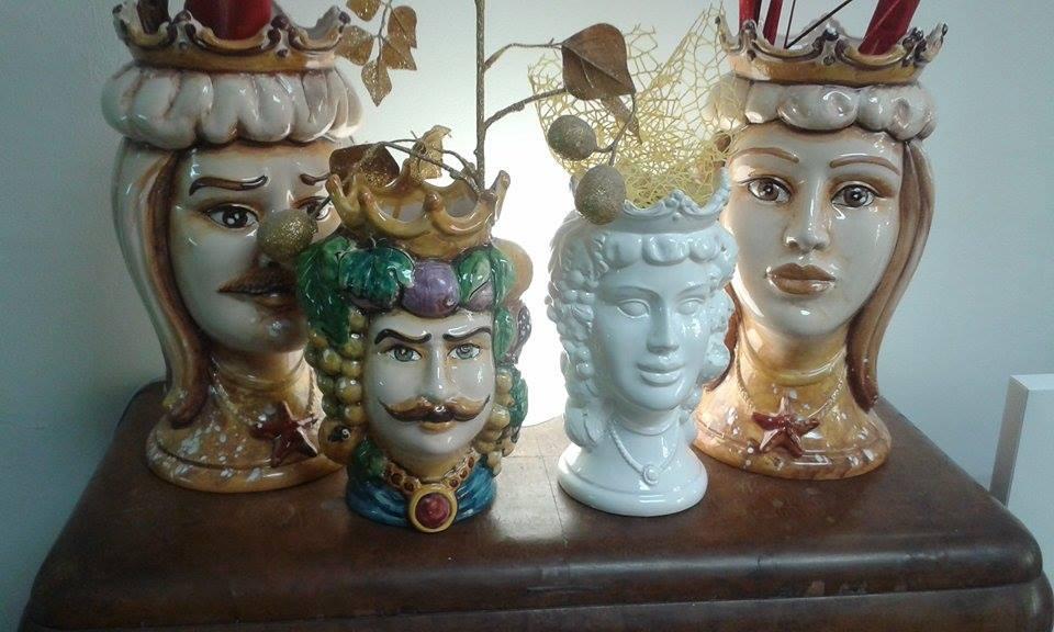 ceramica artistica siracusa teste di moro